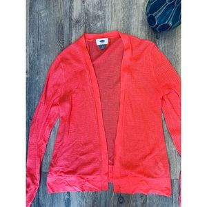 NWT Old Navy Coral Cardigan. Size Small.